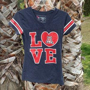 Girl's LA love T shirt Juniors authentic team